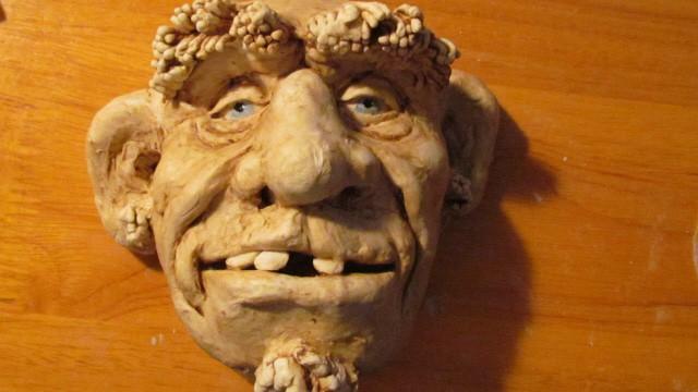 Sculpt a Wild Man Face with Jonni's Air-Dry Clay