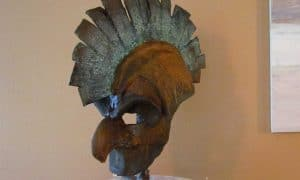 paper mache helmet mask