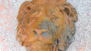 Concrete Lion Head