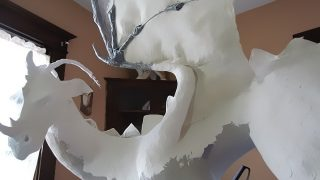 Dragon Sculpture with Paper Mache Clay