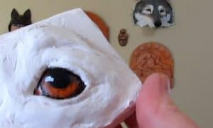 painting dog eyes