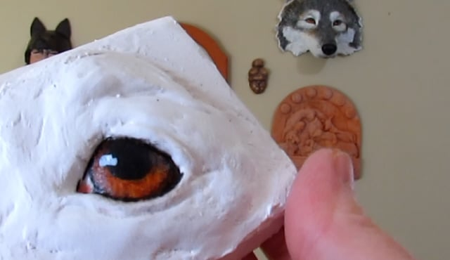 painting dog eyes