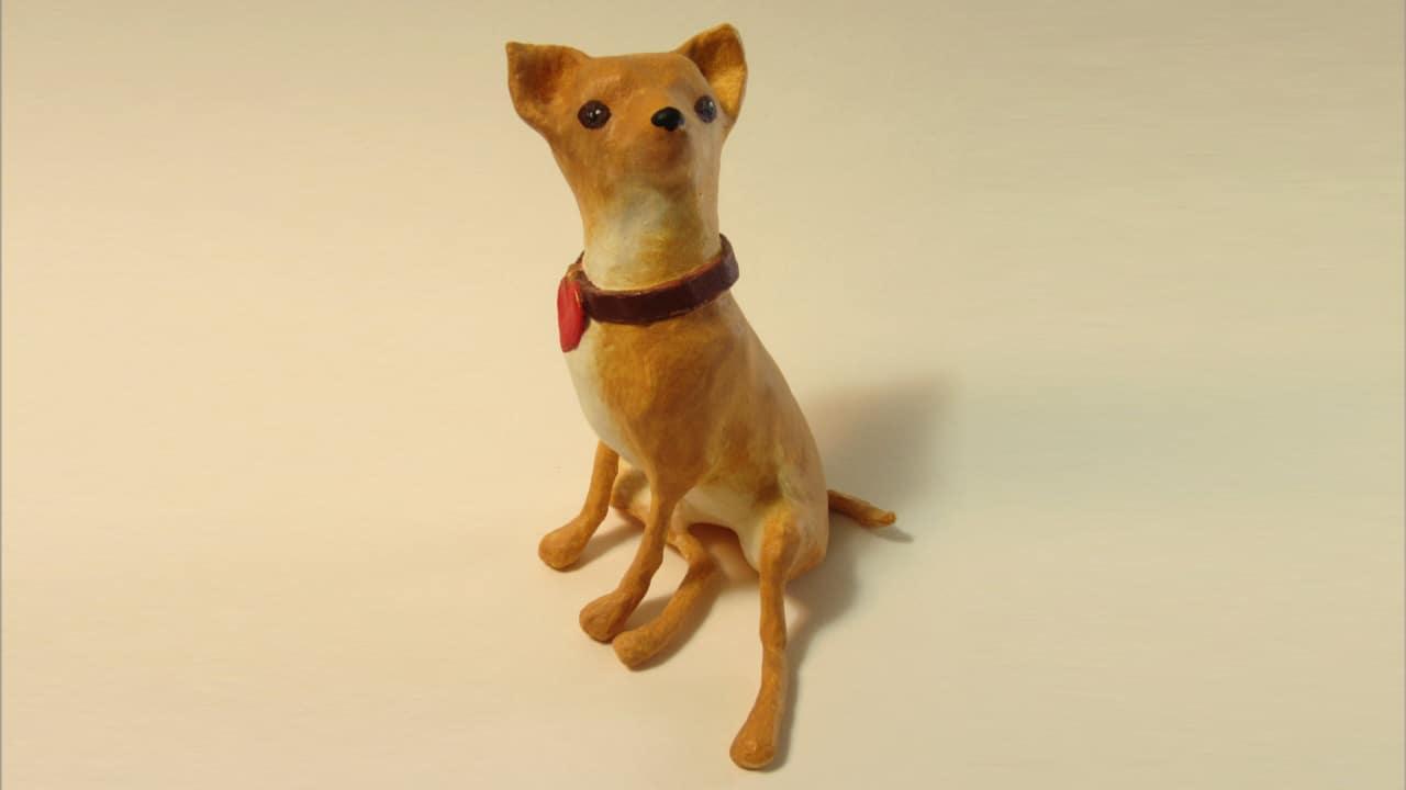 Make a paper mache Chihuahua