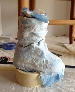Paper Mache Shoes for Chair