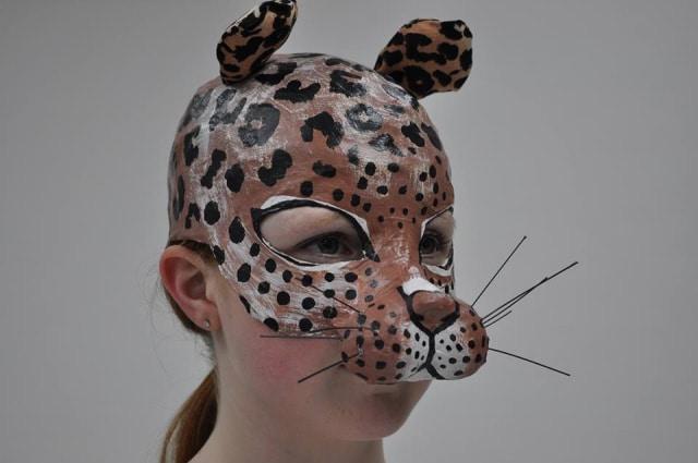 Paper Mache Leopard Mask