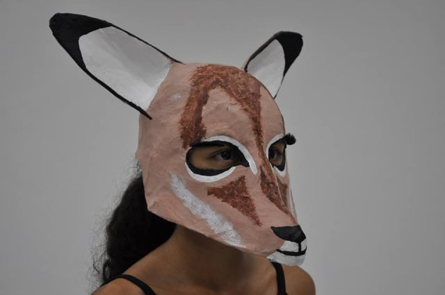 Paper Mache Impala Mask