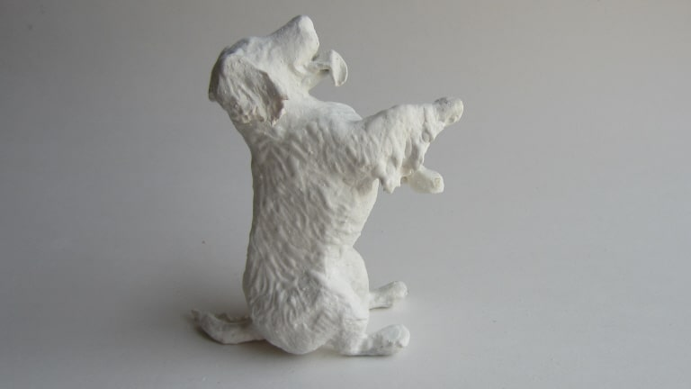 Paper Mache Golden Retriever