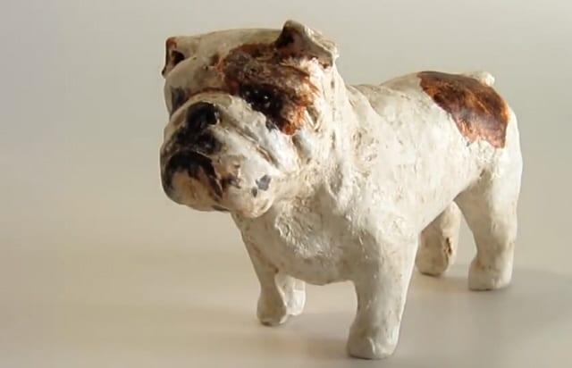 Paper Mache Bulldog