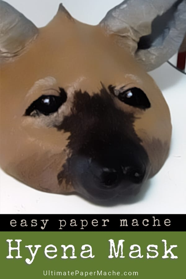 DIY hyena mask pattern