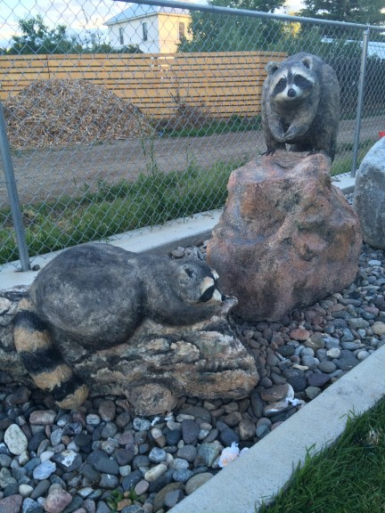 Julie's Raccoons Sculpture