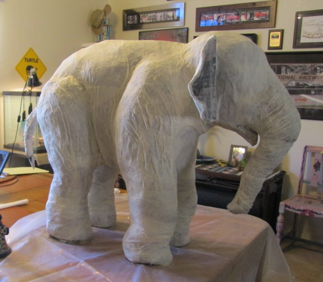 linda s paper mache elephant ultimate paper mache. Black Bedroom Furniture Sets. Home Design Ideas