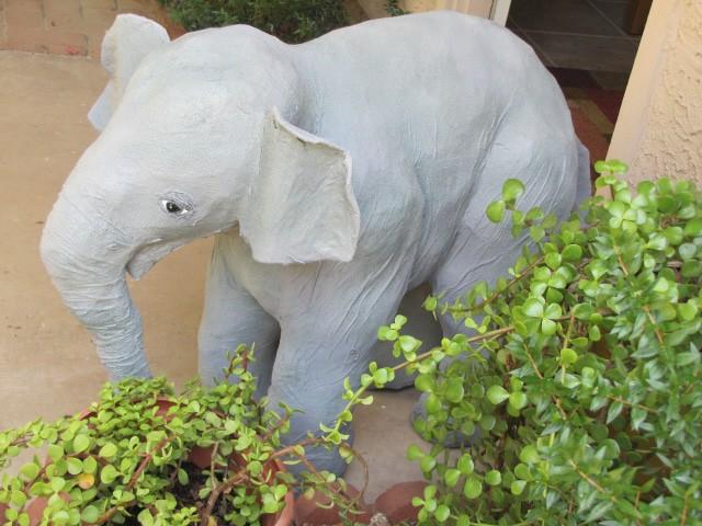 Linda's Paper Mache Elephant