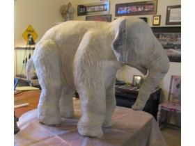 paper mache elephant tutorial