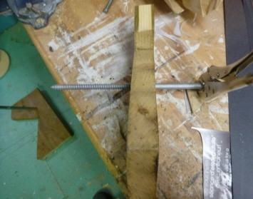 Attaching the Base to the Leg Armature