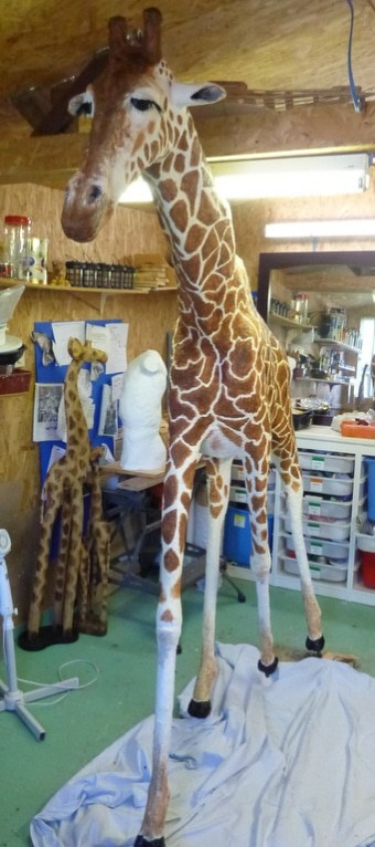 How michele made her paper mache giraffe ultimate paper for How to make paper mache waterproof