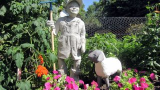 Cement Lamb Sculpture