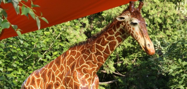 How Michele Made Her Paper Mache Giraffe