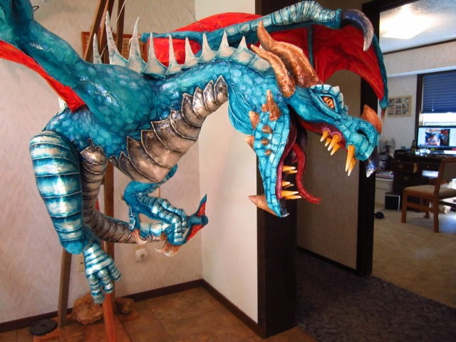 how to make dragon out of paper