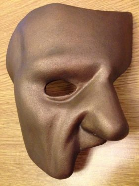Phantom of the Opera Mask with Bronze Finish