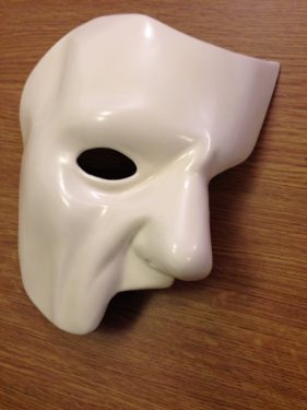 Phantom of the Opera Mask with Ivory Finish