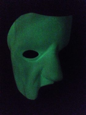 Phantom of the Opera Mask with Glow-In-the-Dark Finish