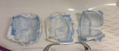 First Paper Mache Masks Taken from Mold
