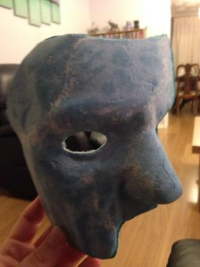 Paper Mache Mask After Trimming