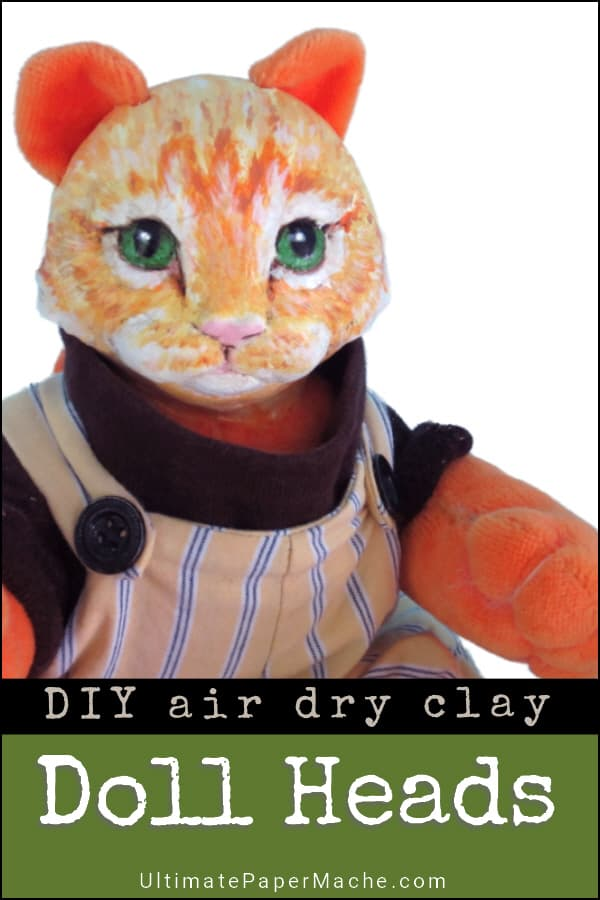Make Animal Doll Heads with Air-Dry Clay