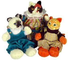 paper mache kitten dolls