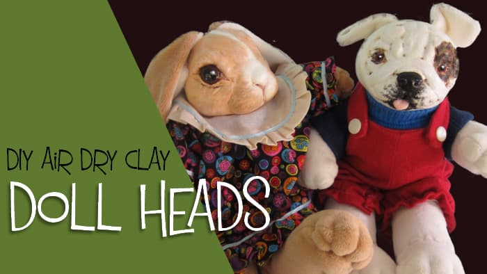 Doll heads made with DIY air dry clay