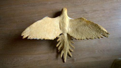 Marilyne's Flying Paper Mache Parrot