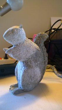 Marilyne's Paper Mache Squirrel