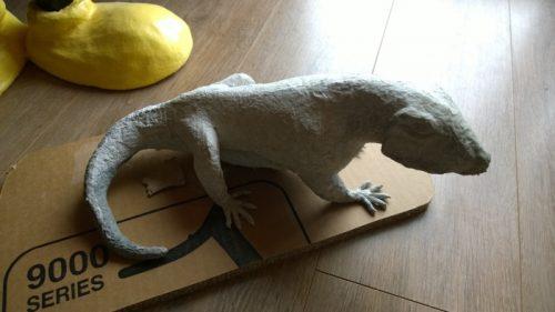 Marilyne's Paper Mache Iguana