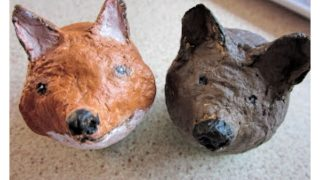 Paper Pulp Fox and Bear