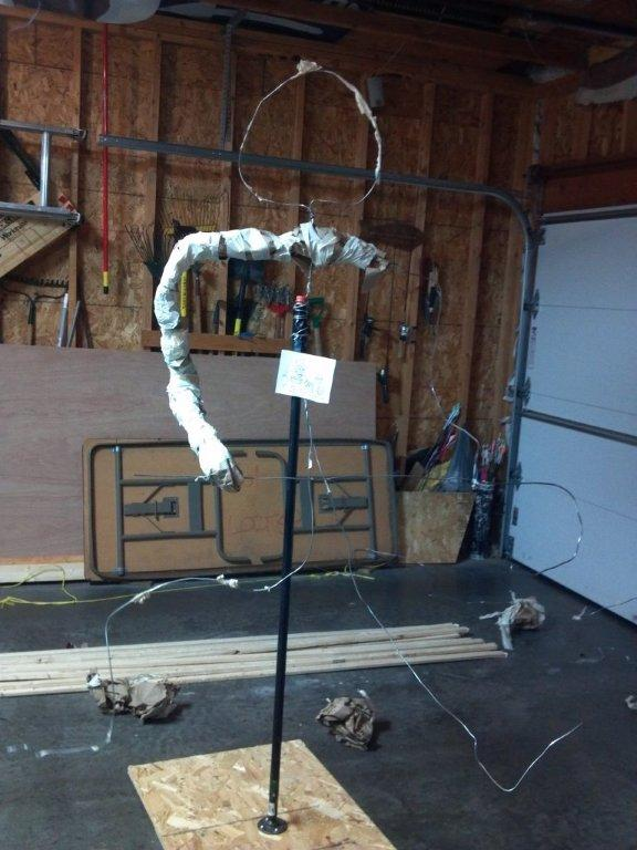 Armature for the snowman.