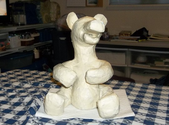 Paper Mache Bear Armature with Masking Tape
