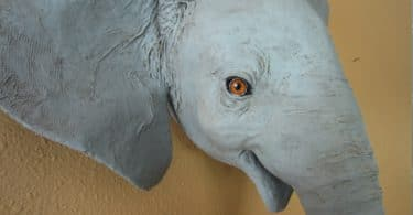 Pattern for Baby Elephant Wall Sculpture