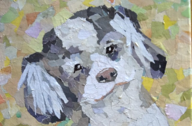 How to Make a Paper Mosaic Dog Portrait- Guest Post