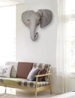 3-D Baby Elephant Wall Sculpture Pattern