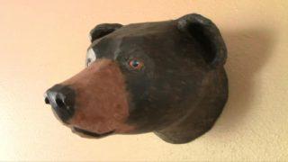 Pattern for Black Bear Faux Trophy Mount