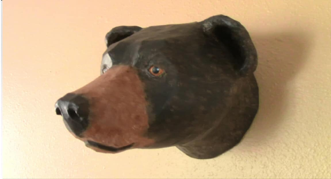 Pattern for Black Bear Faux Trophy Mount
