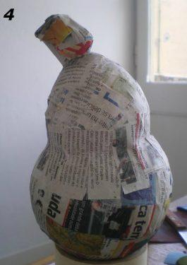 Paper Mache Bird Man, Step 4