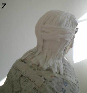 Paper Mache Bird Man, Step 7