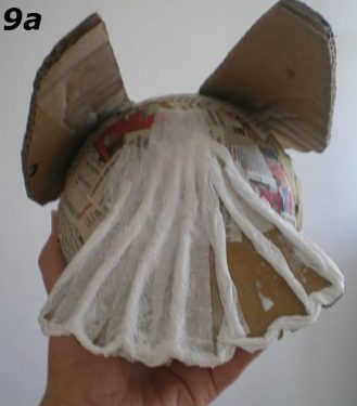 Paper Mache Bird Man, Step 9