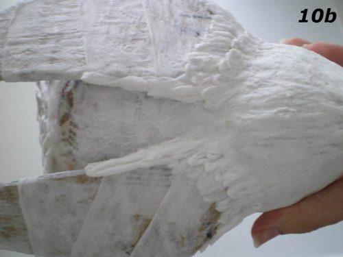 Paper Mache Bird Man, Step 10