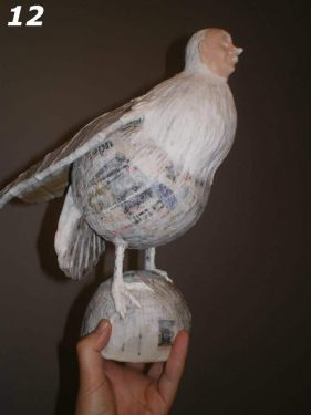 Paper Mache Bird Man Step 12