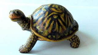 Box Turtle Sculpture made with Air Dry Clay
