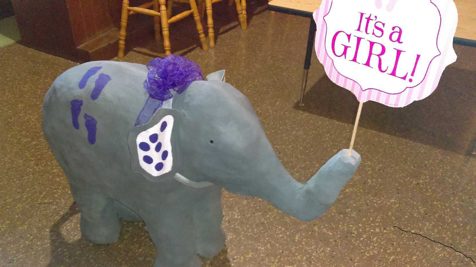 Judy Vretenar made this adorable elephant for her daughter's baby shower.