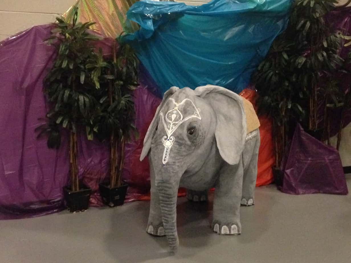 Elephant made for Lacey High School homecoming dance.