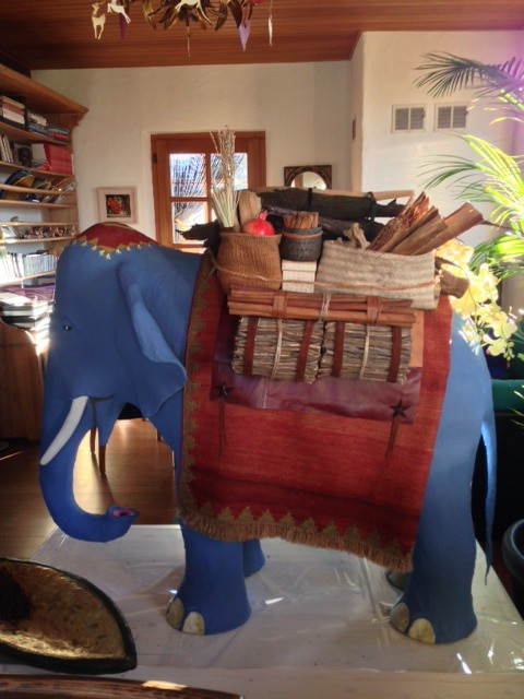 Our Paper Mache Elephant in the Spice Shop
